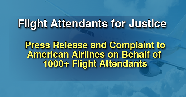American Airlines Flight Attendants for Justice Press Release